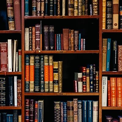 Books in book shelf web design case study