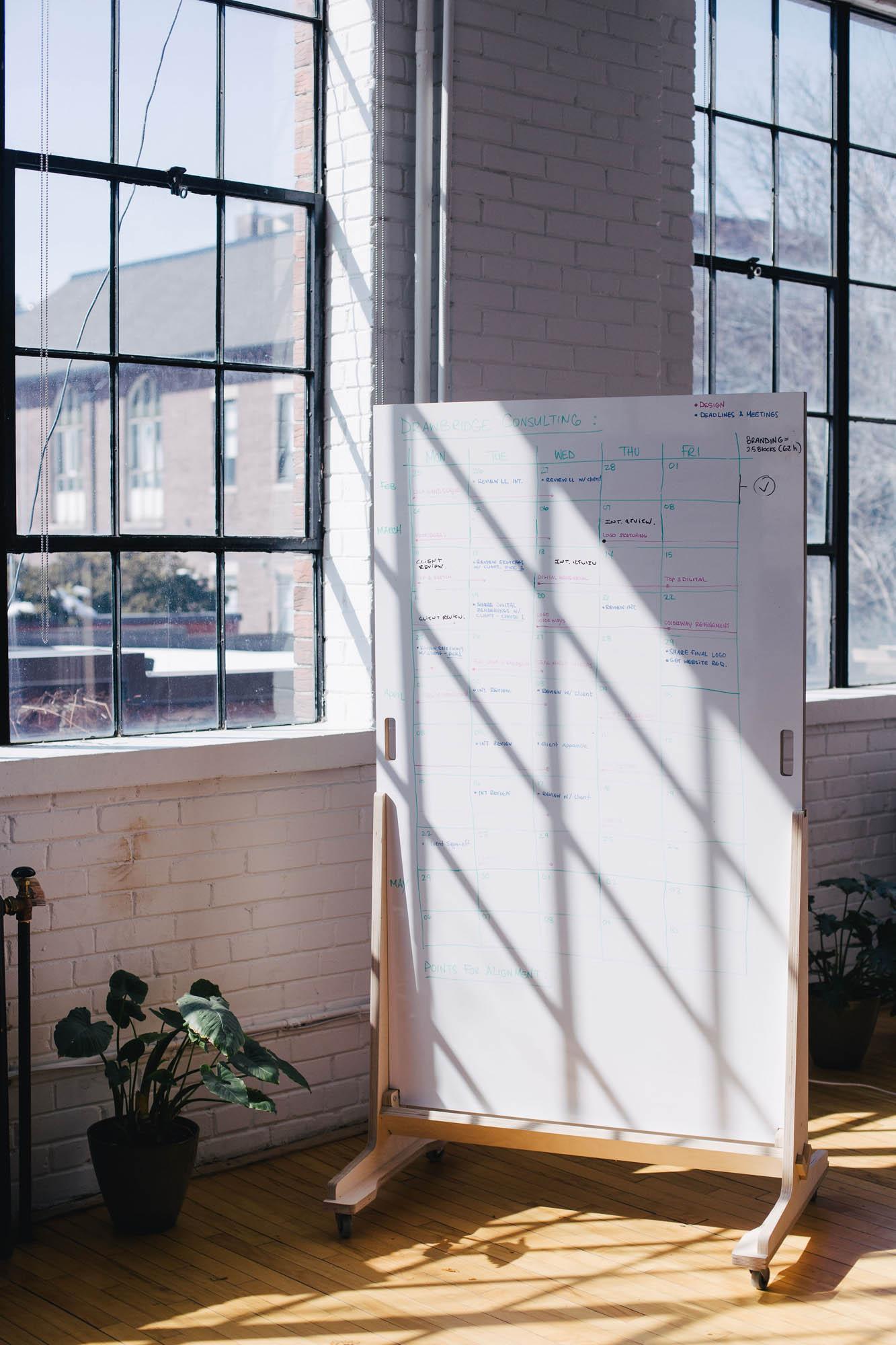 Aciron case study whiteboard in sunlight