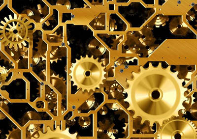 Aciron Case Study interwoven golden gears