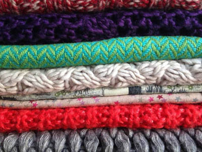 Aciron case study stack of colorful fabrics