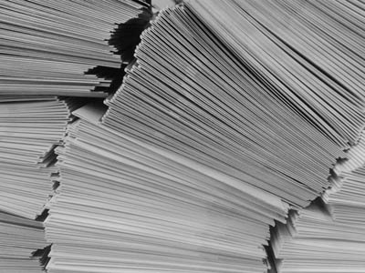 Aciron case study stack of papers