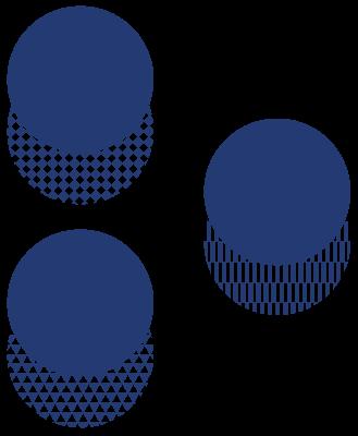 Aciron three circles overlapping