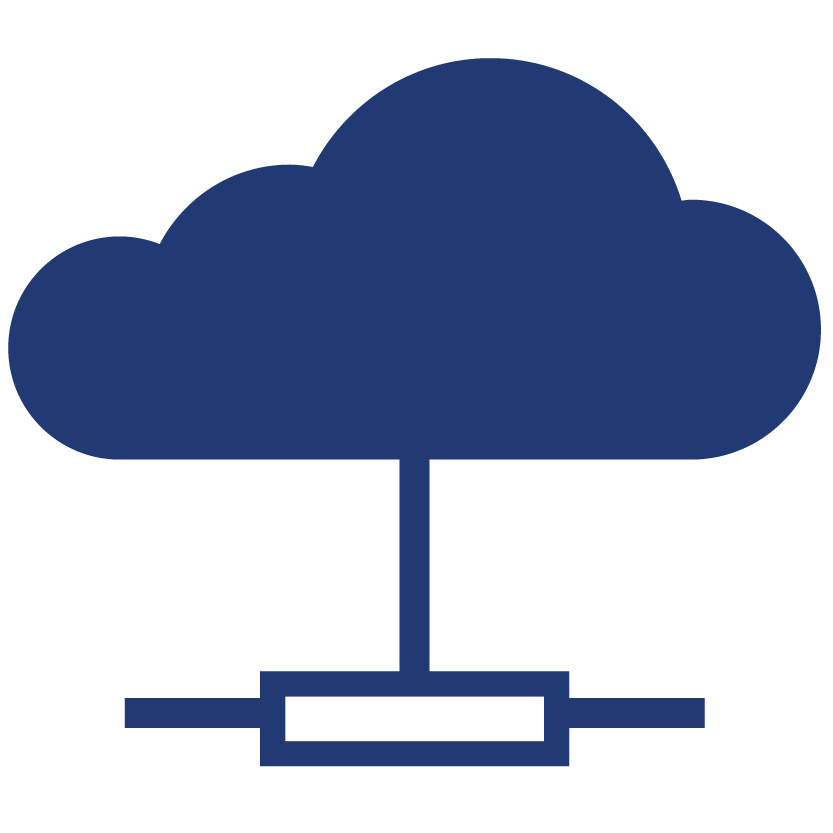 business technology consulting cloud icon