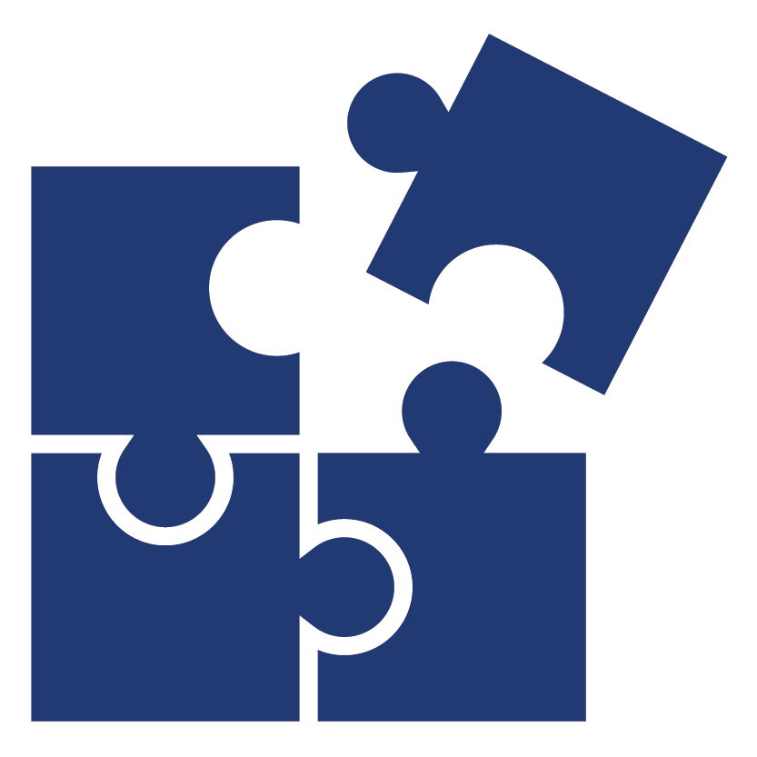 business technology consulting 4 puzzle pieces