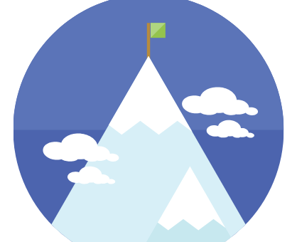 mountain with flag on top user adoption case study technology