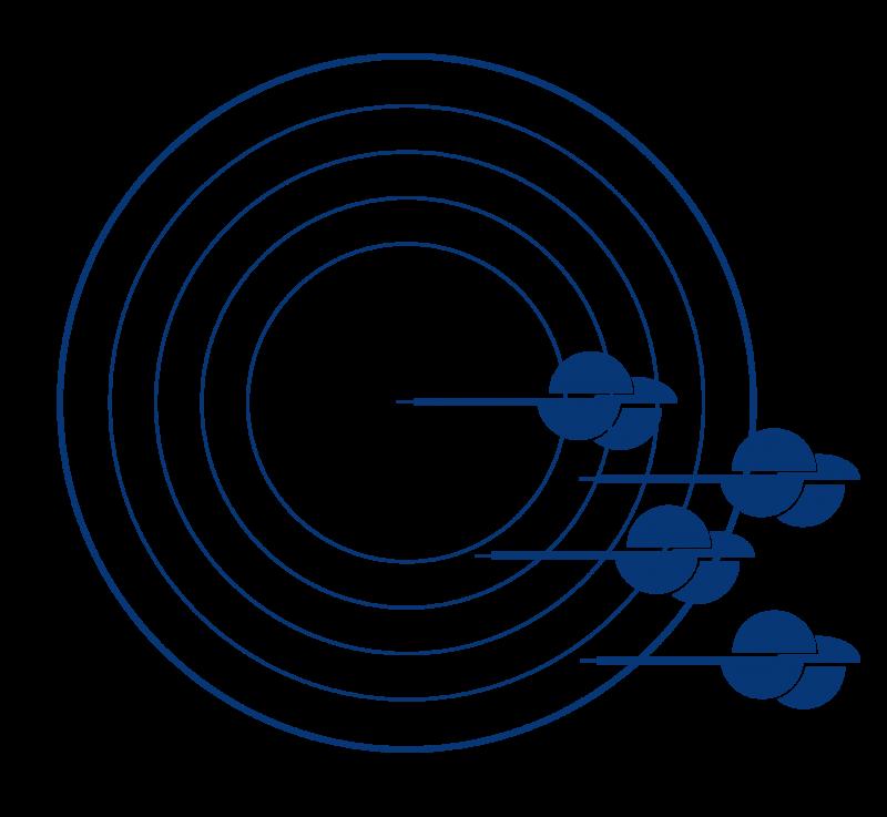 several circles contact us