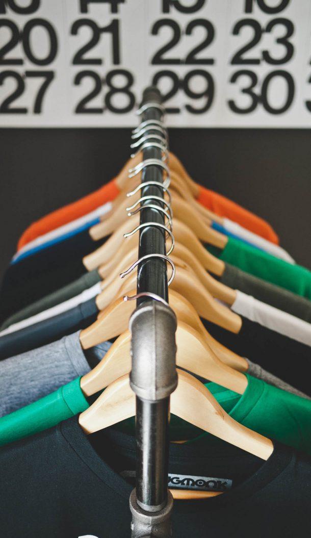 clothes rack custom application