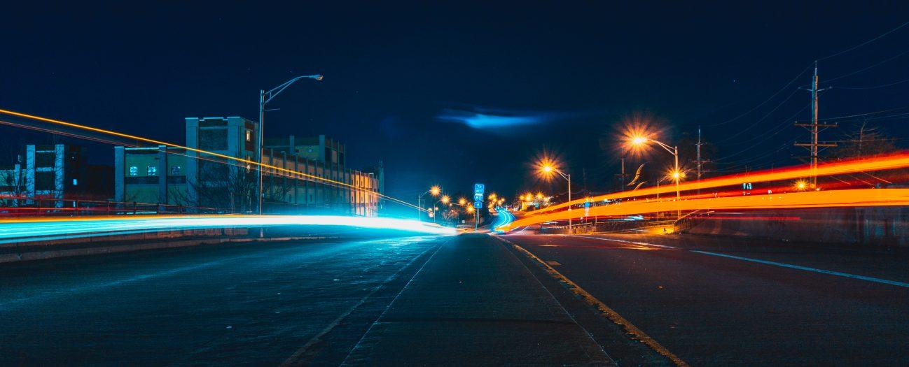 Highway at night Aciron case study
