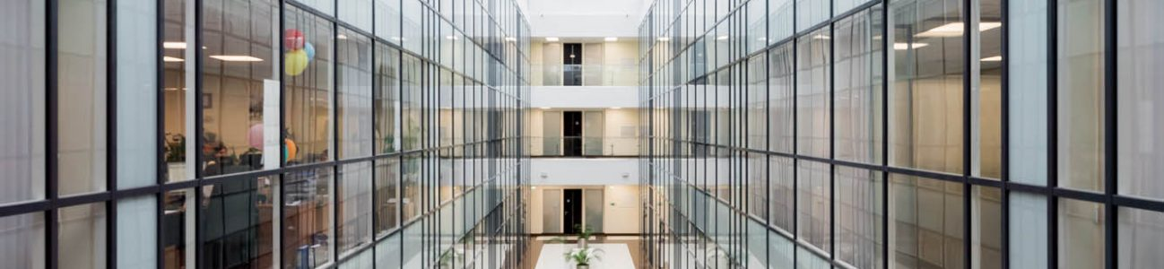 glass hallway case study custom software