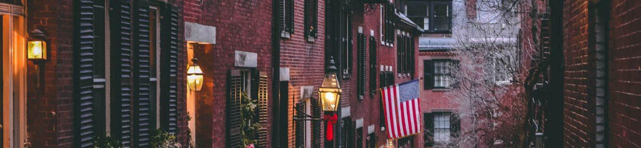 Aciron case study Boston street view with snow